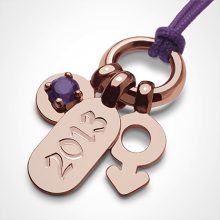 POGO BOY AMETHYST pendant in 750 pink gold by the jewellery collection for children MIKADO.