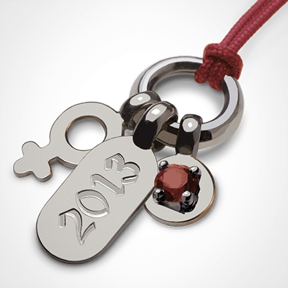 POGO GIRL GARNET pendant in 925 silver by the jewellery collection for children MIKADO.