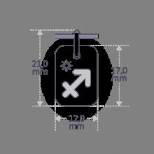 Dimensions du pendentif ASTRO STAR SAGITTAIRE de la collection de bijoux pour enfants MIKADO.