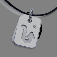 ASTRO STAR SCORPIO christening zodiac pendant in 925 silver and diamond by the jewellery collection for children MIKADO.