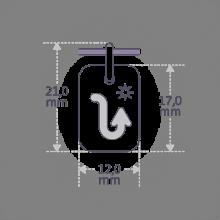 Dimensions du pendentif ASTRO STAR SCORPION de la collection de bijoux pour enfants MIKADO.