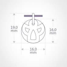Dimensions of the ANGIE pendant from MIKADO jewellery for kids.