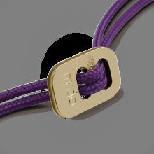Fermoir coulissant en or jaune 750 millièmes rhodié des cordons de la collection de bijoux pour enfants MIKADO.