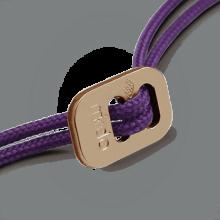 Cierre deslizante de oro rosa 750 milésimas rodiadas de los cordones de la colección de joyería infantil MIKADO.