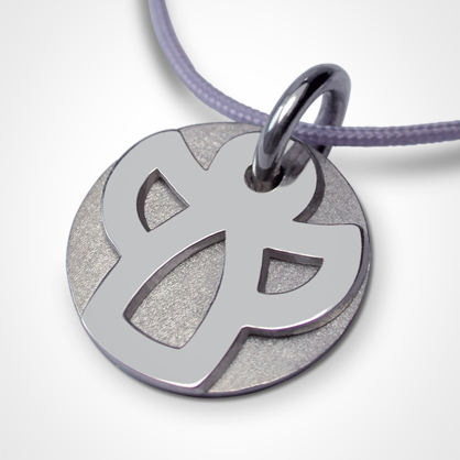 ANGIE christening medal in 750 white gold by the jewellery collection for children MIKADO.
