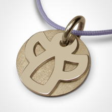 ANGIE christening medal in 750 yellow gold by the jewellery collection for children MIKADO.