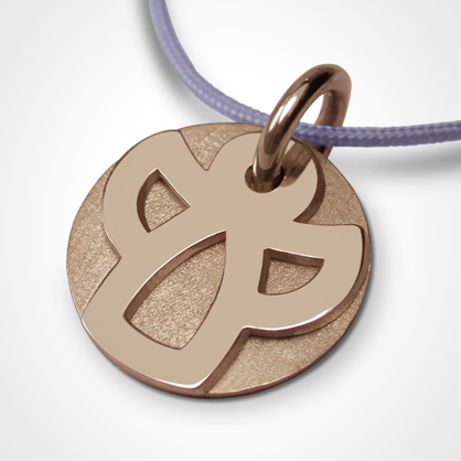 ANGIE christening medal in 750 pink gold by the jewellery collection for children MIKADO.