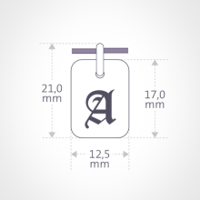Dimensions of the TATTOO pendant designed by MIKADO.