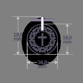 Dimensions du pendentif SANTA CRUZ de la collection de bijoux pour enfants MIKADO.