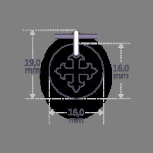 Dimensions de la médaille de baptême ROYAL de la collection de bijoux pour enfants MIKADO.