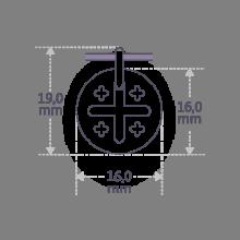 Dimensions de la médaille de baptême JERUSALEM de la collection de bijoux pour enfants MIKADO.